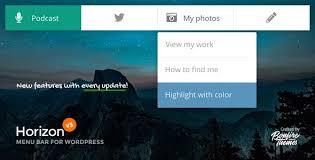 Horizon - Menu Bar Plugin for WordPress